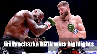 Jiri Prochazka RIZIN wins highlights