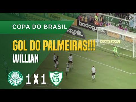 GOL (WILLIAN) - PALMEIRAS X AMÉRICA-MG - 23/05 - COPA DO BRASIL 2018