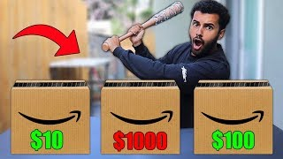 DONT Smash The Wrong AMAZON Package!! (MYSTERY ITEM CHALLENGE)