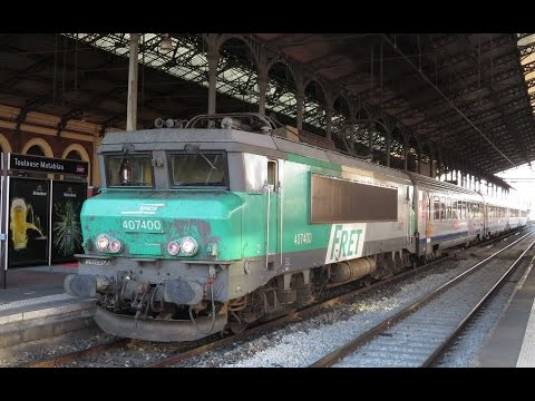 France: Toulouse area, SNCF BB7200 & BB8500 electric locos on TER passenger trains