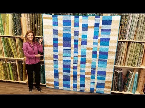 "Simple, Modern, Beautiful! Moda's ""Stacks"" Quilt Full Tutorial 