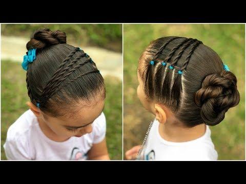 peinado para niñas con nudos y ligas |Peinados fáciles y rápidos para el regreso a clases|LPH