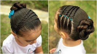 Download peinado para niñas con nudos y  ligas |Peinados fáciles y rápidos para el regreso a clases|LPH