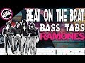 The Ramones - Beat On The Brat | Bass Cover With Tabs in the Video