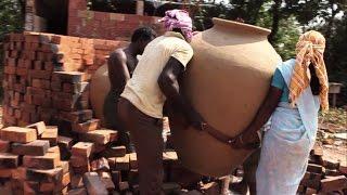 Making of big clay pots - Heating Process - Mankalam making Part 1 - Jeevanam
