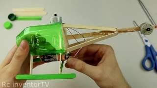 Как сделать вертолет из пластиковой бутылки