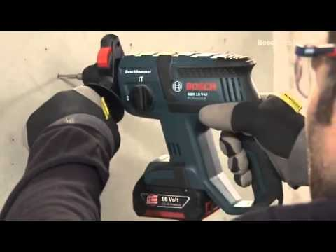 bosch gbh 18 v li professional cordless rotary hammer youtube. Black Bedroom Furniture Sets. Home Design Ideas