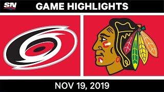 NHL Highlights   Hurricanes vs. Blackhawks – Nov. 19, 2019