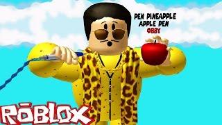 roblox adventures pen pineapple apple pen obby ppap challenge