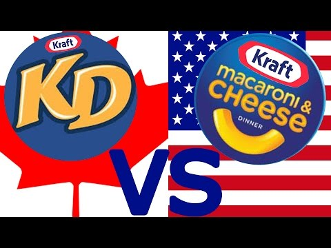 American Mac 'N' Cheese Vs. Canadian Kraft Dinner