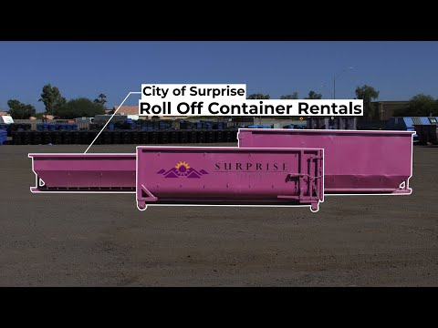 City of Surprise Roll Off Container Rentals video thumbnail