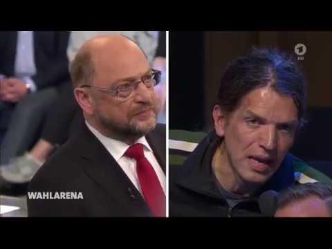 Die ARD - Wahlarena mit Martin Schulz, SPD, am 18. September 2017