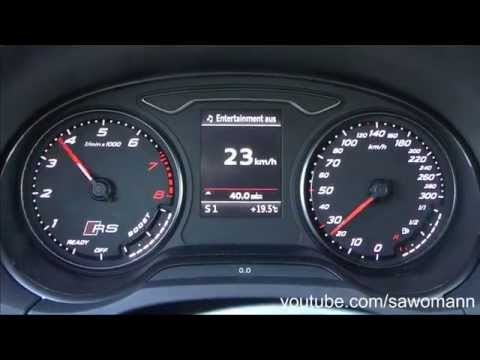 Awesome 2015 Audi RS 3 367 HP 0100 Kmh Amp 0100 Mph Acceleration GPS