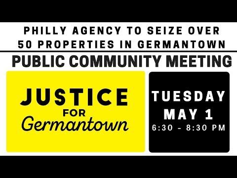 Justice for Germantown Community Meeting 5/1/18