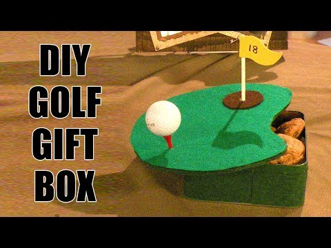 DIY Golf Gift Box - How to Make a Golf Gift Box