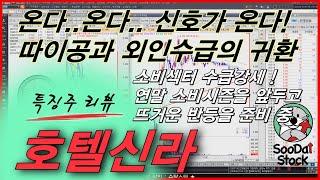 [특징주] 호텔신라. 면세사업 효자 따이공이 돌아온다.…