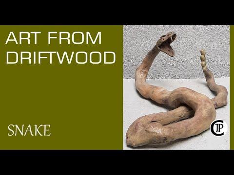 Driftwood Art - Rattlesnake