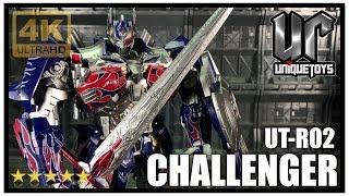 Unique Toys UT-R02 CHALLENGER Transformers AOE/TLK Masterpiece Optimus Nemesis Prime Review