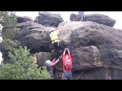 Klettersteig Jonsdorf : Abgekackt am klettersteig youtube