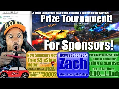 Rocket League Prize Tourney For Sponsors!  New Update! Performance Mode & More On Nintendo Switch!