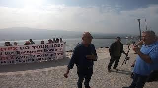 Ο δήμαρχος Ανατολικής Σάμου στη διαμαρτυρία για τη FRONTEX