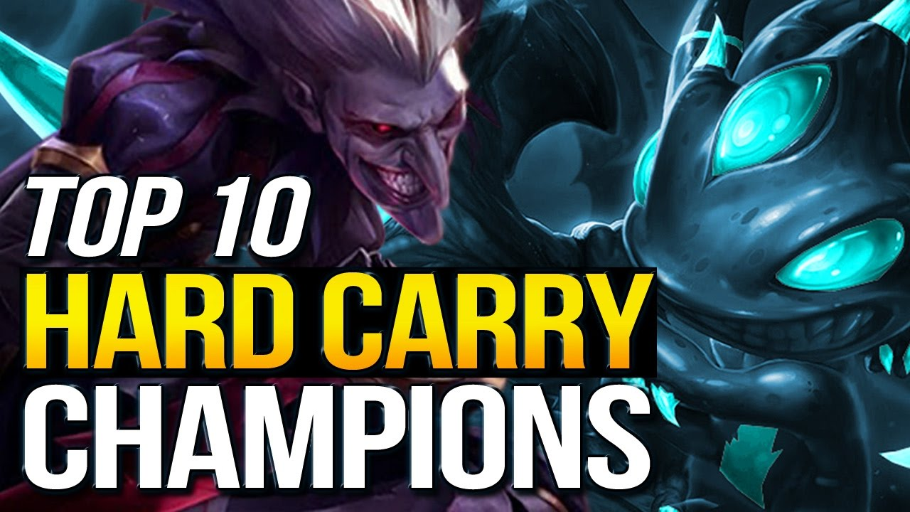 Top 10 Solo Hard Carry Champions In Preseason 7 League Of Legends Youtube