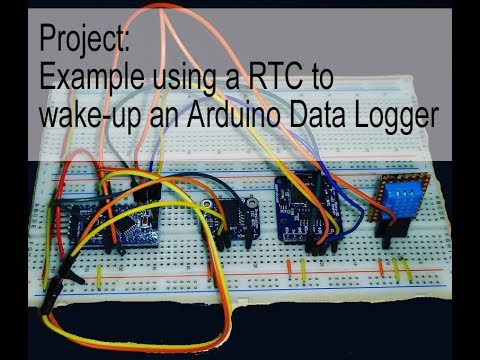 Project: Example using a RTC to wake-up an Arduino Data Logger