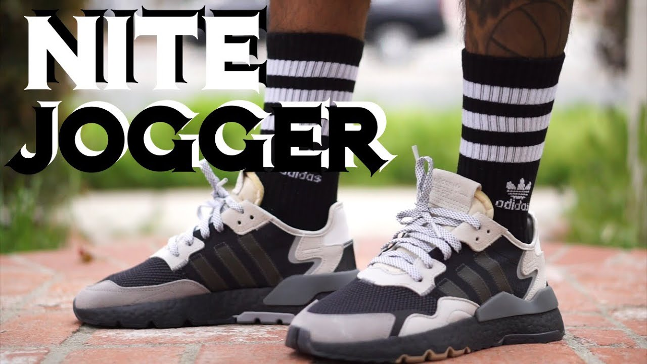 3b42910ce ADIDAS NITE JOGGER CARBON GRAY ON FEET REVIEW - YouTube