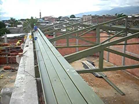 Estructura santa ana youtube for Estructuras metalicas para tejados