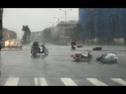 VTC14   Siêu bão Hato đổ bộ HongKong