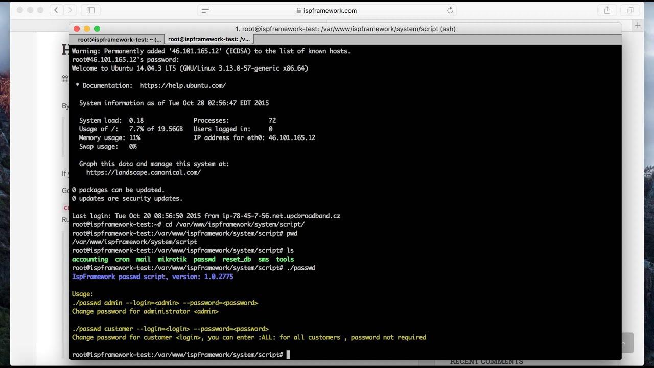 How to reset admin password | Splynx