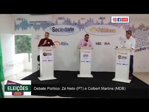 Segundo turno em Feira de Santana: debate entre Zé Neto (PT) e Colbert Martins (MDB)