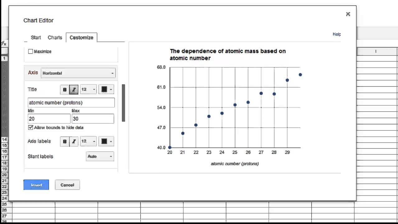 How to make a graph in google sheets scatter plot youtube how to make a graph in google sheets scatter plot ccuart Image collections