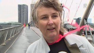 'Wensvlaggen' Erasmusbrug niet opgewassen tegen weer