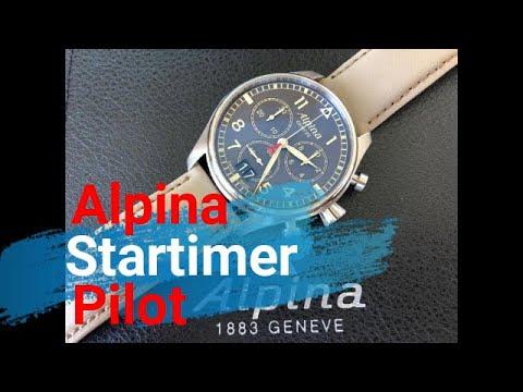 Alpina Startimer Pilot. Orologio da pilota ben fatto e a un buon prezzo
