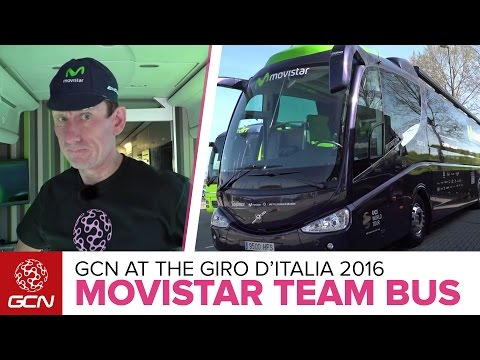 Movistar Team Bus Tour   Giro D'Italia 2016
