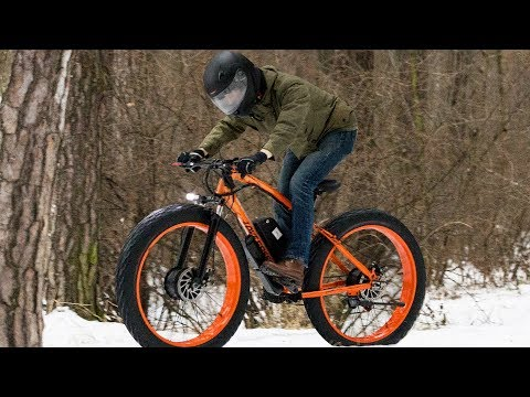 Electric fatbike 2x2 on ice and snow!