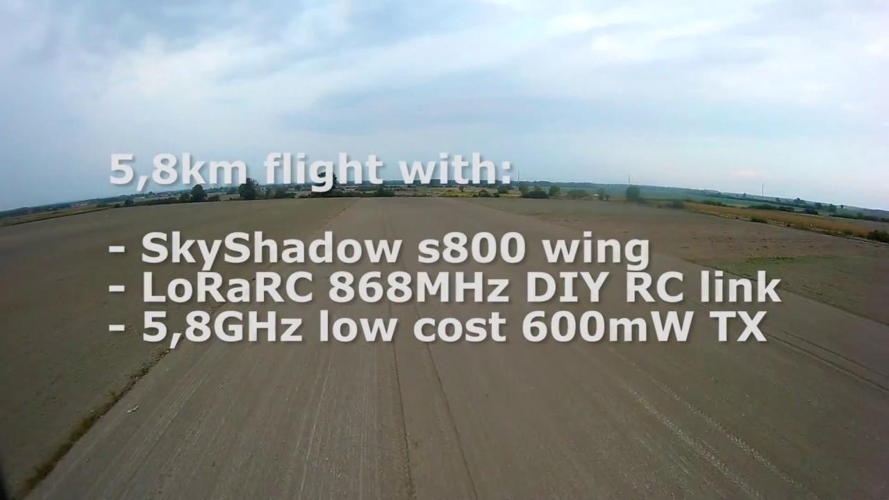 LoRaRC mid-range flight 5,8km at very low power - RFM95 + Arduino Pro Mini