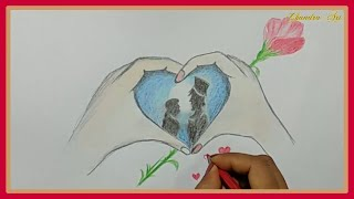 valentines drawing - how to draw a valentine