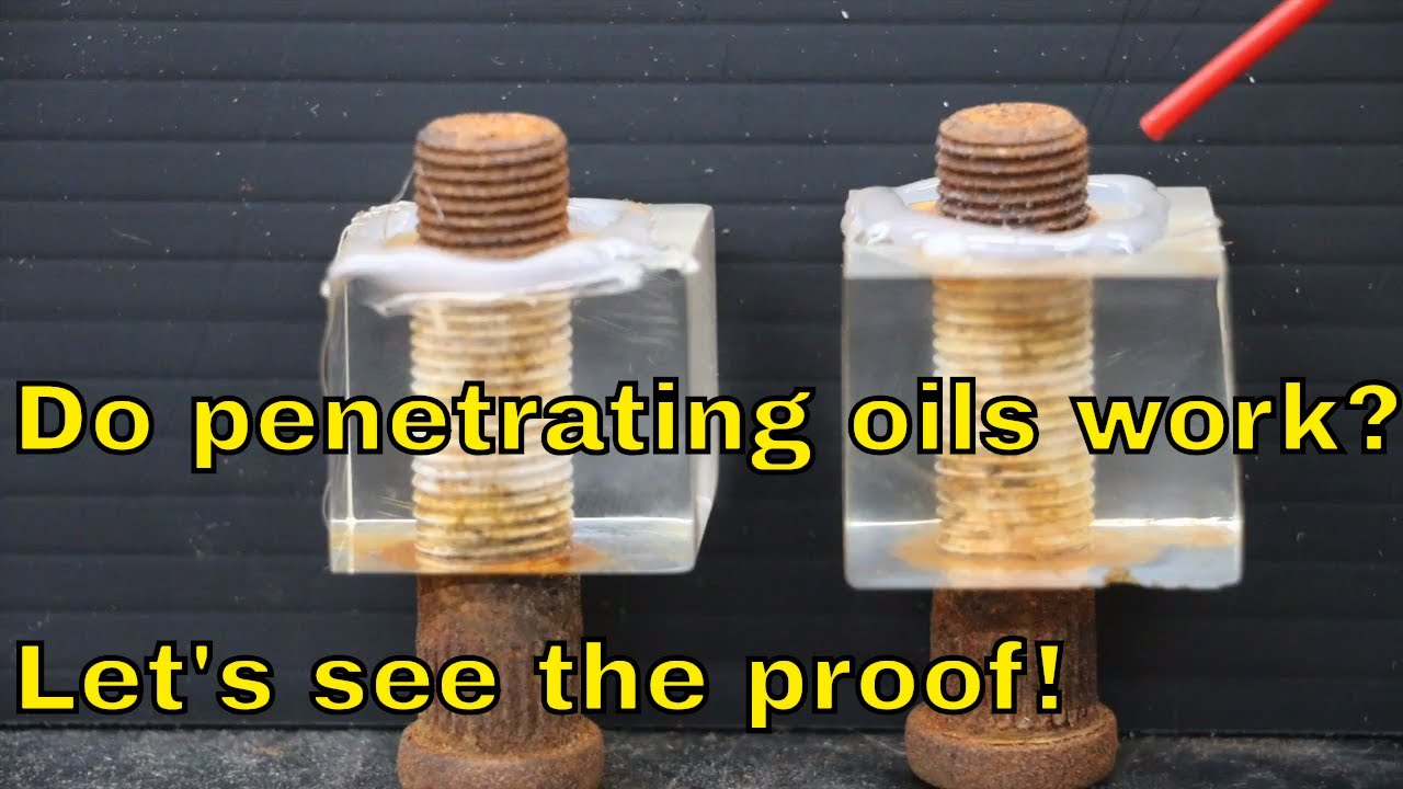 Good penetrating oil comparo vid - Interesting results for