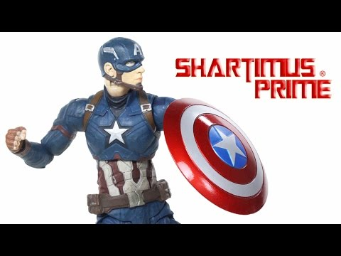 Marvel Select Civil War Captain America Movie Toy Action Figure Review