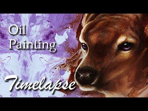 Gentle Deer | OIL PAINTING TIMELAPSE