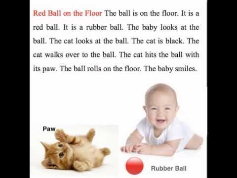 Red Ball on the Floor ฝึกอ่านภาษาอังกฤษ
