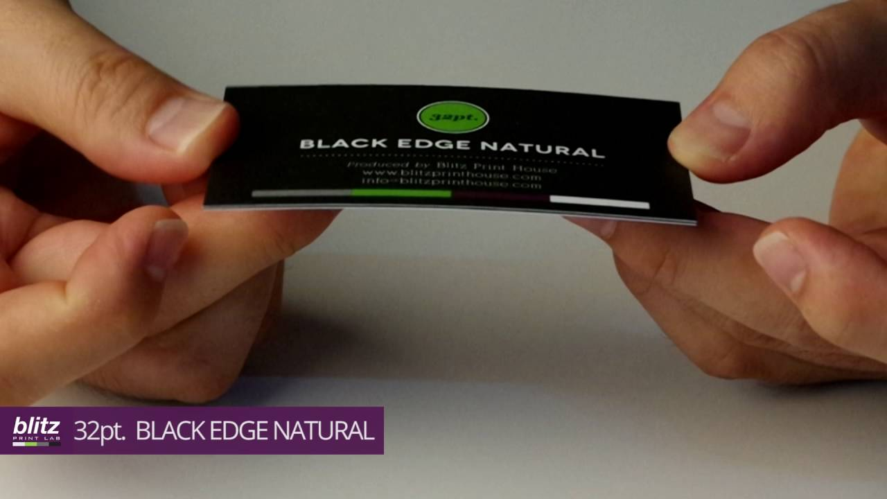 32pt black edge natural business card by blitz print house youtube 32pt black edge natural business card by blitz print house colourmoves Gallery