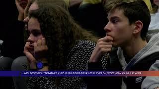 Yvelines | Une leçon de littérature avec Hugo Boris pour les élèves du lycée Jean Vilar à Plaisir