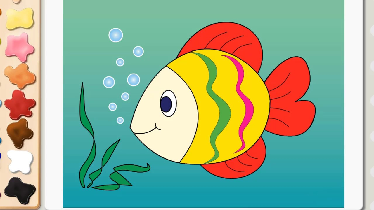 Uncategorized Fish Drawing For Kids drawing for kids how to draw a butterfly mouse cat snail fish page baby