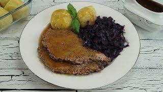 Ramazana özel: Sirkeli Sigir Eti Kizartmasi Tarifi (Sauerbraten mit Rotkohl und Kartoffelknödeln)