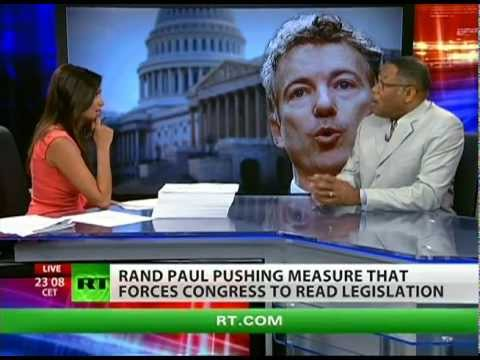 Dr. Leon on RT TV Topic: Rand Paul Wants Congress to Read