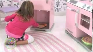 Kidkraft Pink Retro Kitchen And Refrigerator