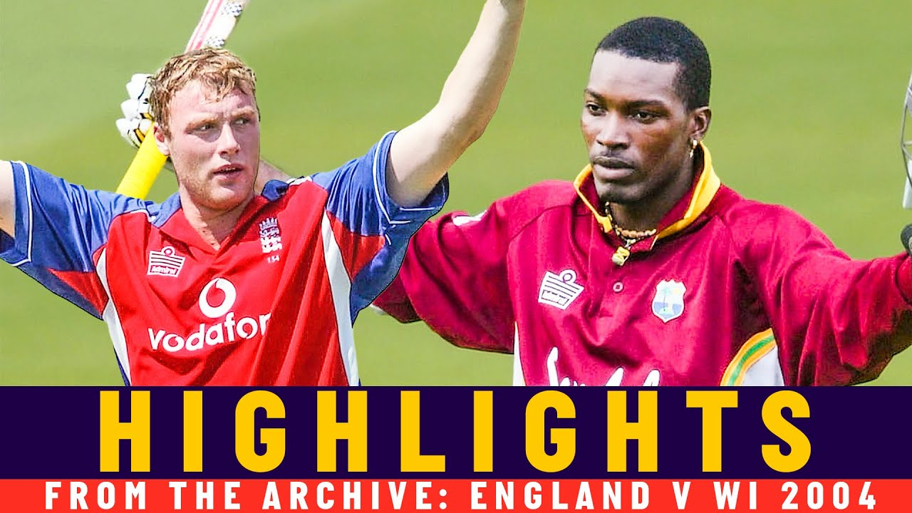 Gayle vs Flintoff in ODI run-fest! | Classic Match | England v West Indies 2004 | Lord's